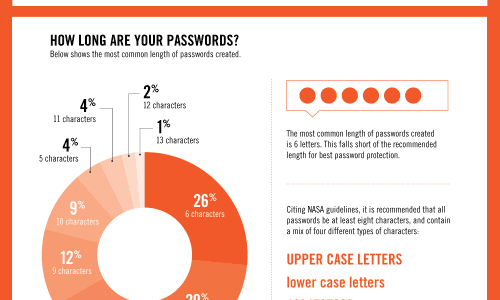 Top Hackable Passwords Infographic