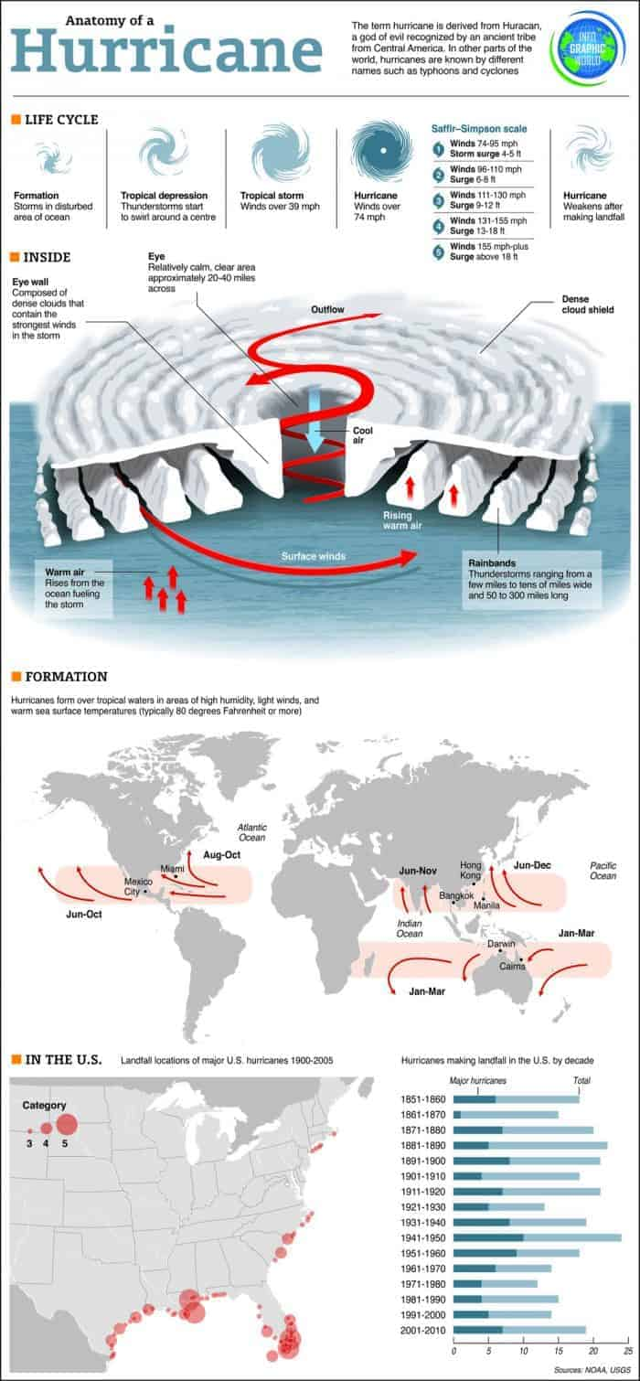 Anatomy of a Hurricane Infographic