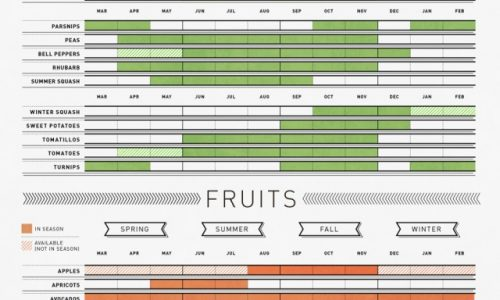 A Guide To Seasonal Fruits & Vegetables