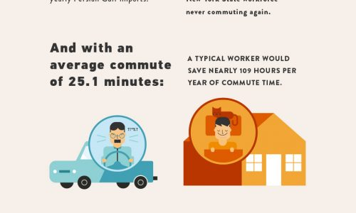 Perks of Working at Home Infographic