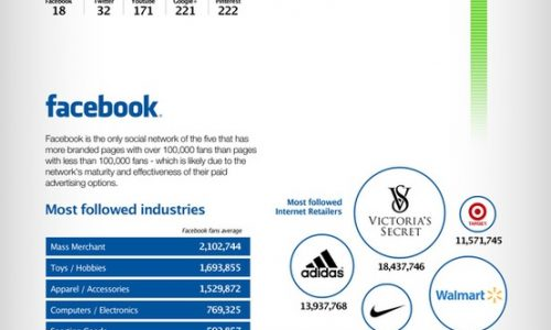 Top Social Internet Retailers Infographic