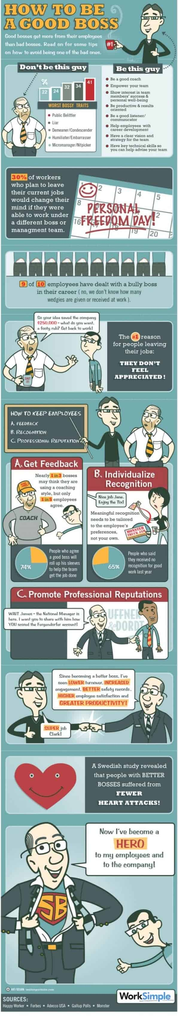 how to be a good boss infographic daily infographic how to be a good boss