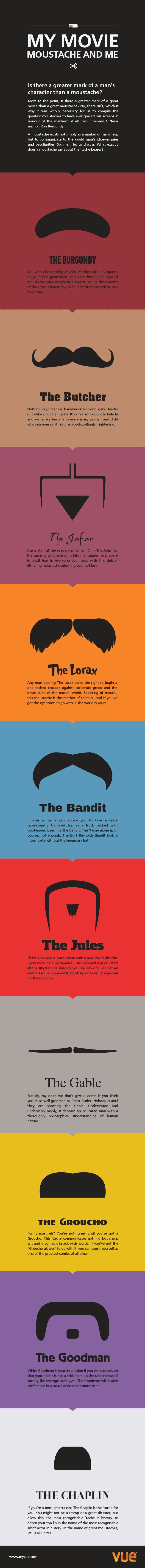 My Movie Moustache and Me Infographic