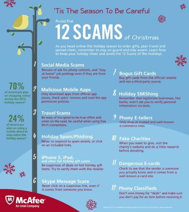 Tis The Season To Be Wary: 12 Holiday Scams to Avoid | Daily Infographic