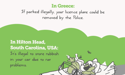 Ludicrous Laws of the Road Infographic