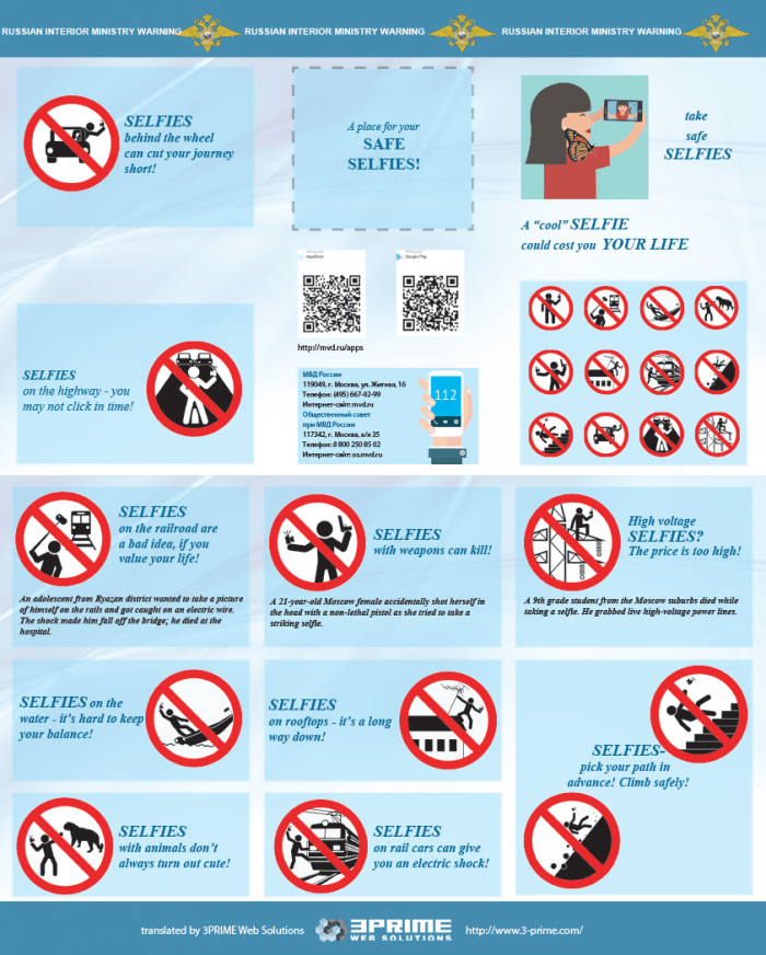 Russian Federation's Guide To Taking Safer Selfies