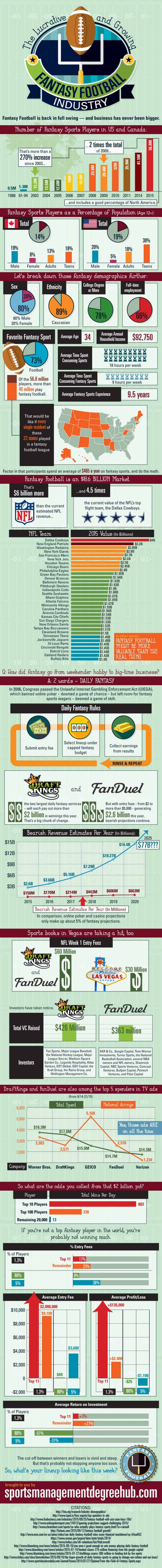 Fantasy Football Industry Infographic