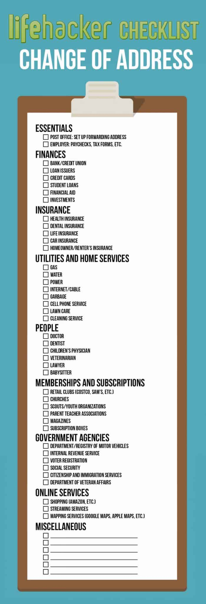 You Guide to Changing Your Address Infographic