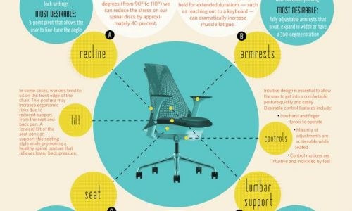 Office Chair Ergonomics Infographic