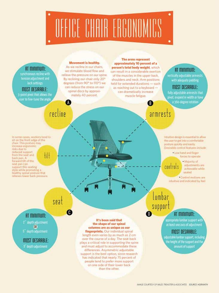 What You Need In An Office Chair Daily Infographic