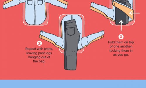 8 Pro Packing Techniques Infographic