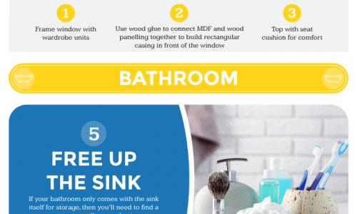 8 Simple but Epic IKEA Hacks Infographic