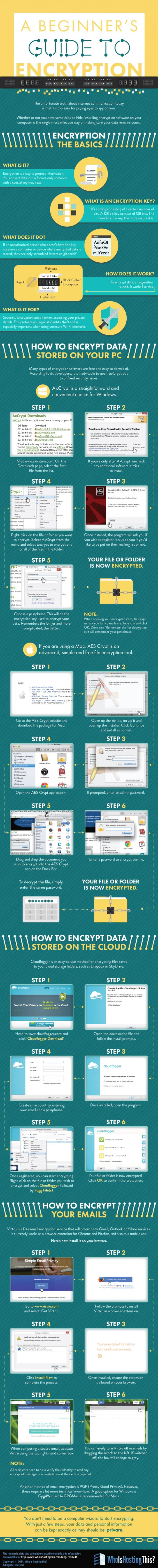 A Beginner's Guide to Encryption Infographic