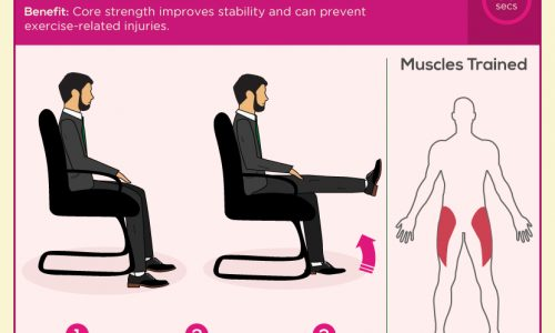 5 minute office workout to work cardio, legs, body