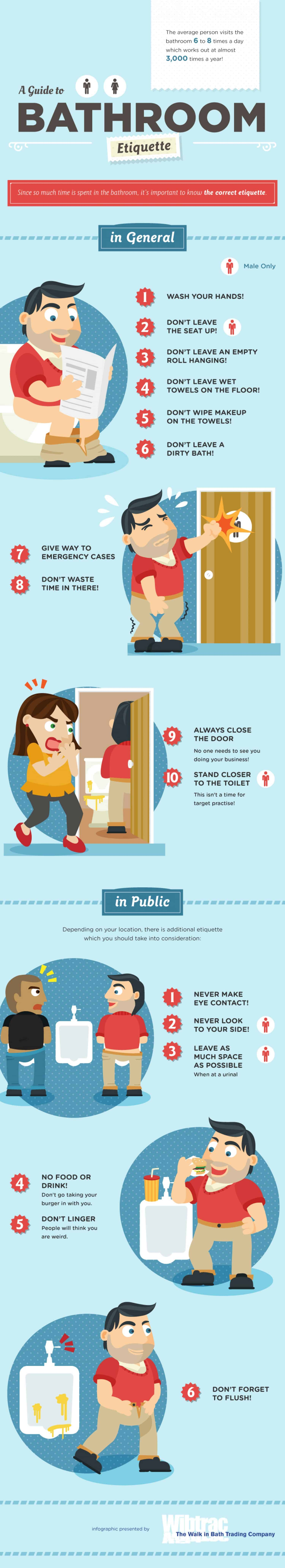 Bathroom Etiquette the ultimate guide to proper bathroom etiquette | daily infographic