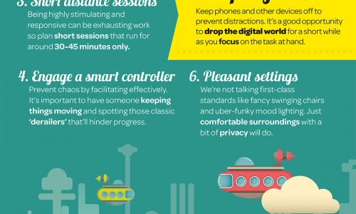 Infographic on how to keep brainstorming sessions effective and without any distractions