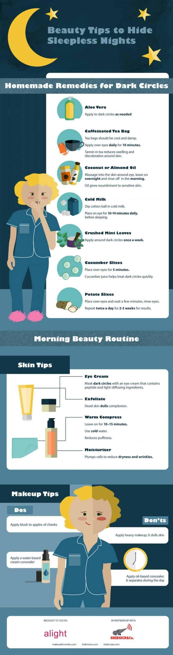 Beauty Tips To Help Hide Sleepless Nights