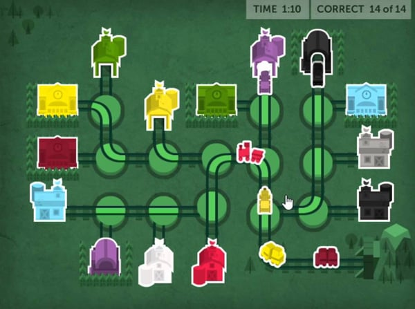 Learning game screenshot from Lumosity website