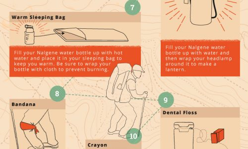 12 backpacking tips using household items
