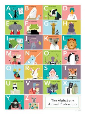 animal professions ABC poster