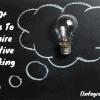 100 ways to inspire creative thinking graphic