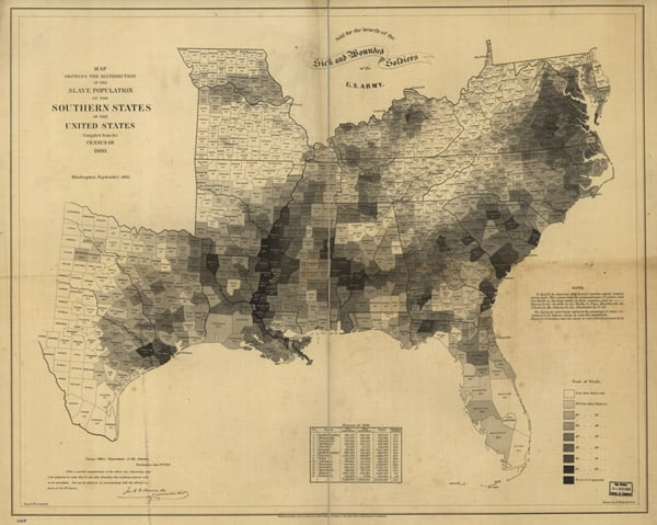 civil war slave holders map