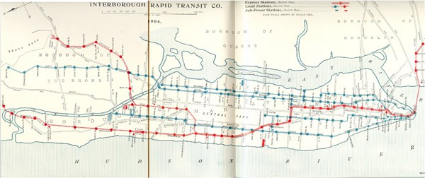 NYC subway map 1904