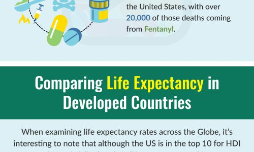 statistics on how Opioid Crisis is decreasing life expectancy
