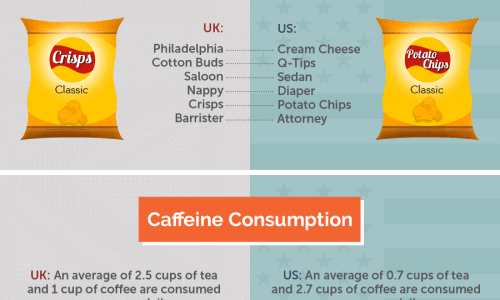 Infographic about housing differences between the UK and the US.