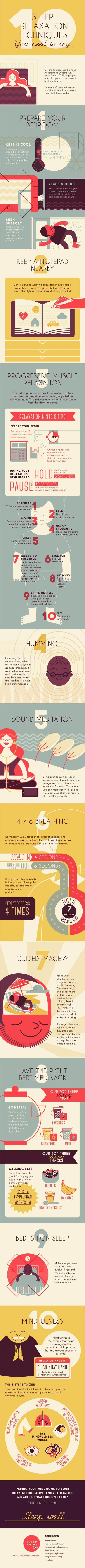 image with 10 techniques to improve sleep health