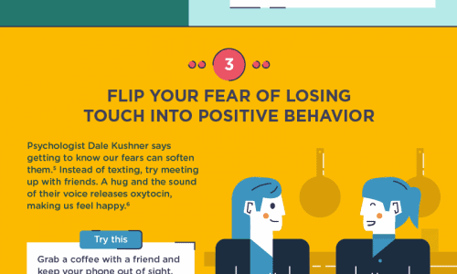 infographic describes tips to avoid cellphone overuse and to stop checking your phone so much