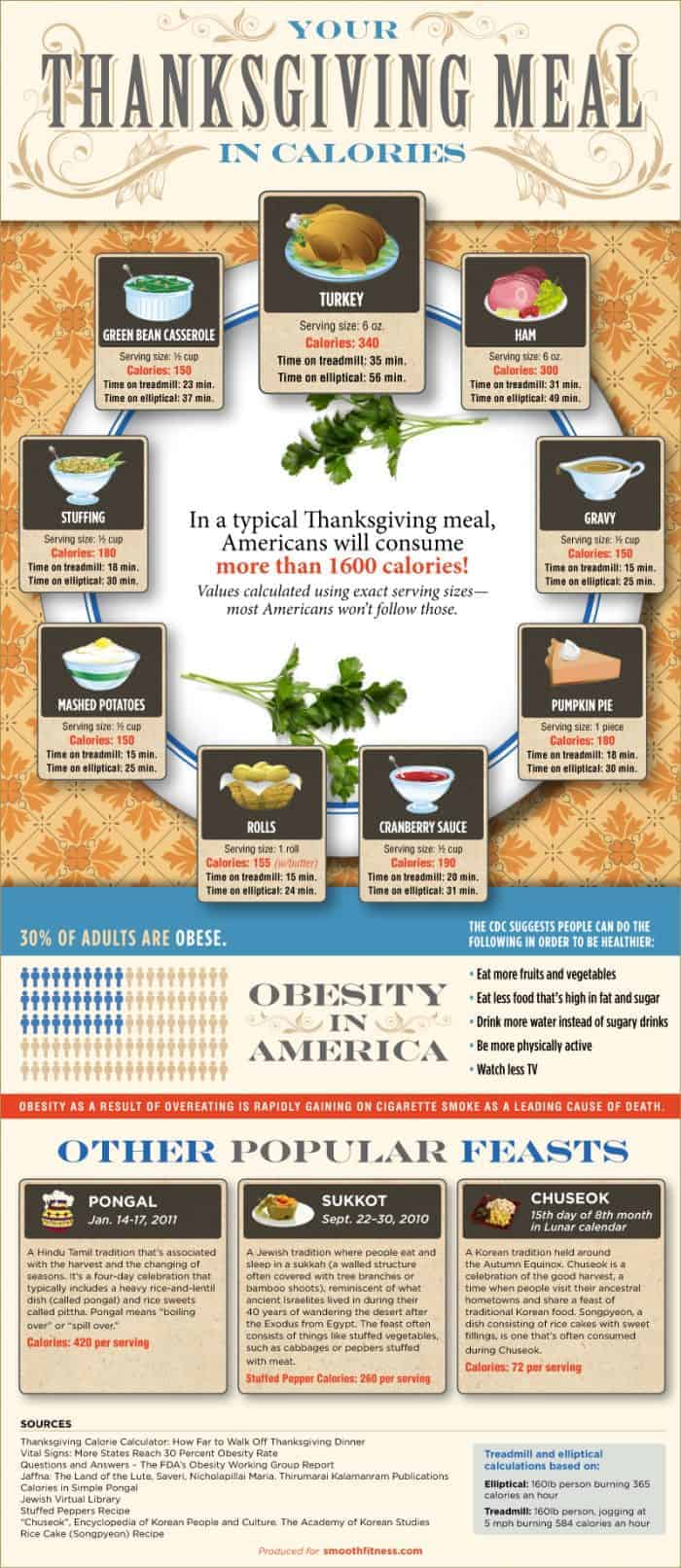 Thanksgiving Meal in Calories