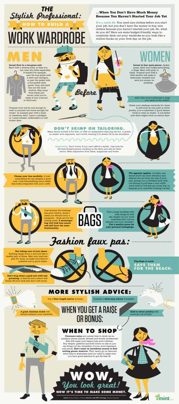 Work Wardrobe Infographic