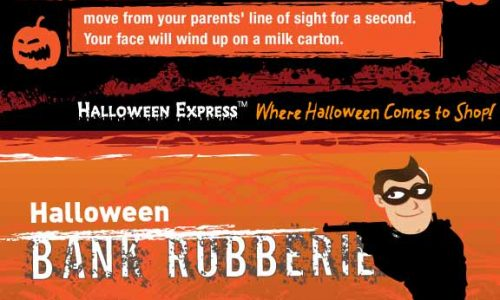 Darker Sides of Halloween Infographic