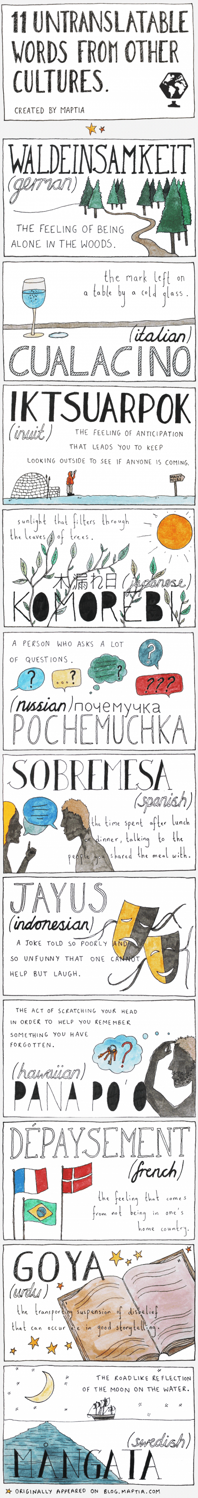 11 Untranslatable Words from Other Cultures 3