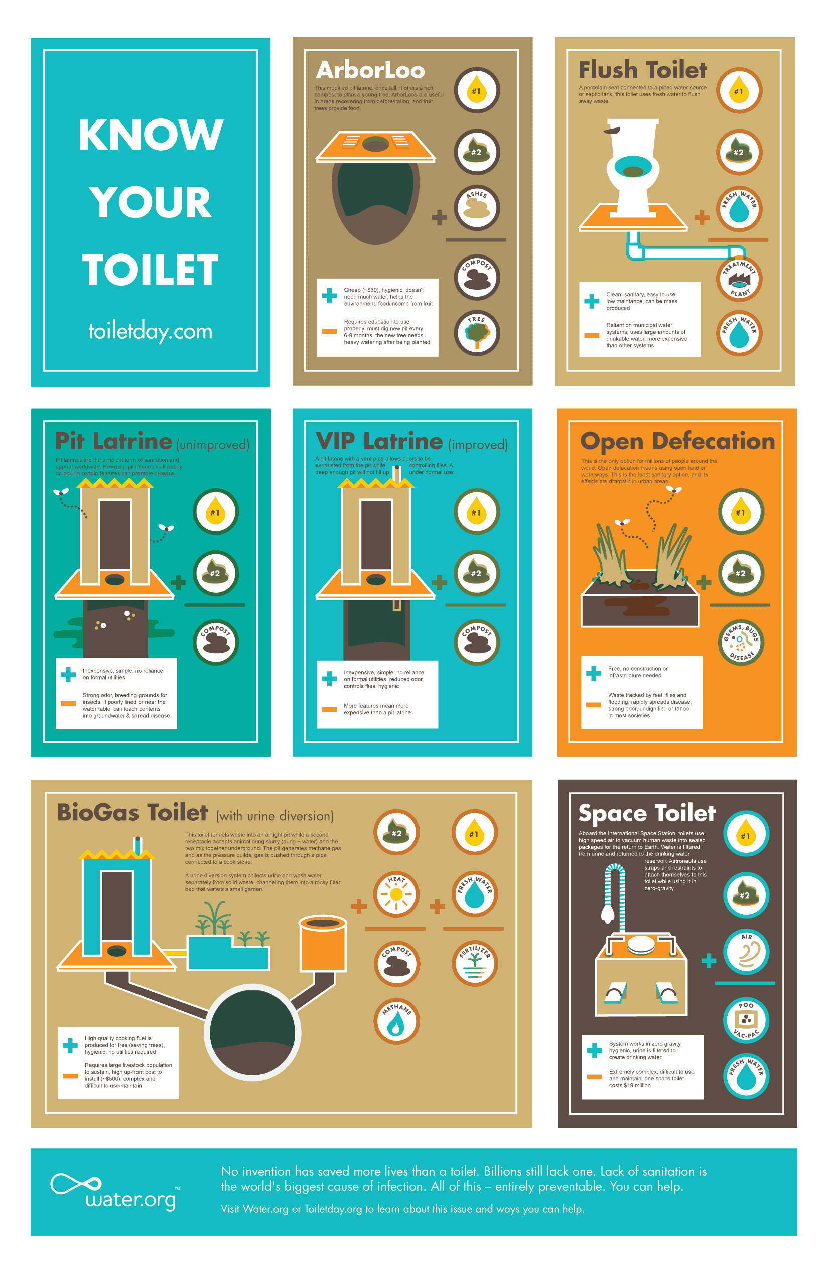 Know Your Toilet Daily Infographic