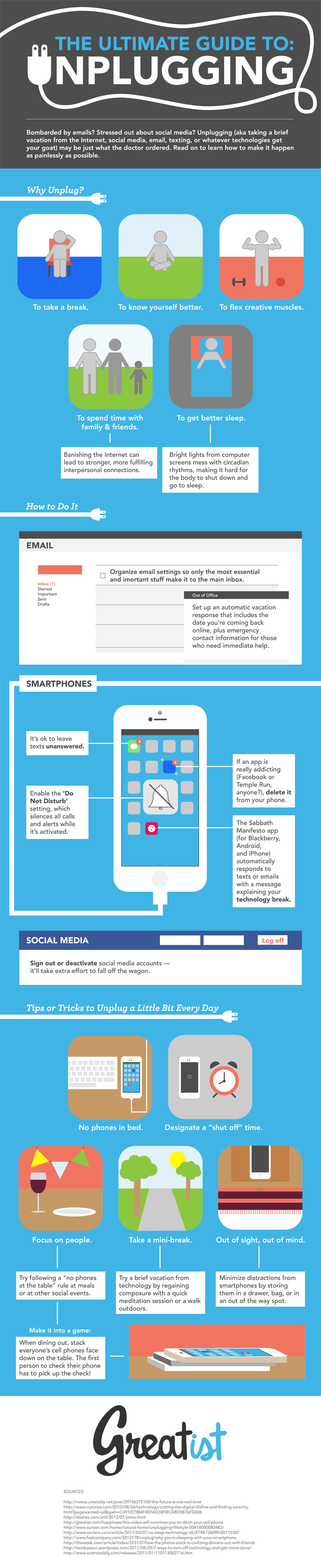 Ultimate Guide to Unplugging Infographic