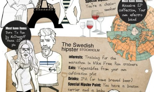 Hipsters The World Tour Infographic