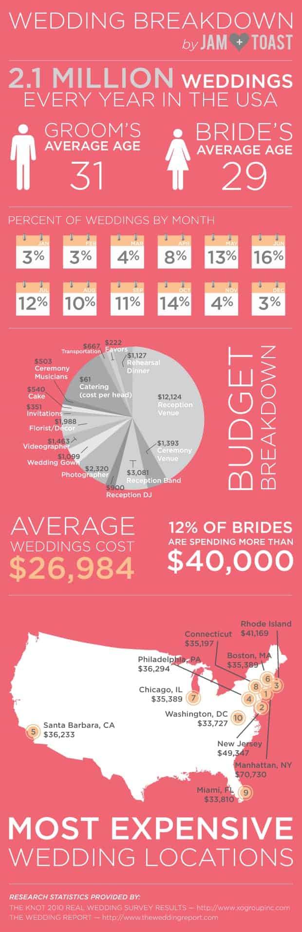 Wedding Breakdown Infographic