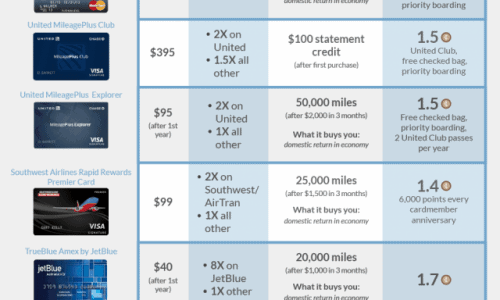 Best Rewards Credit Cards Infographic