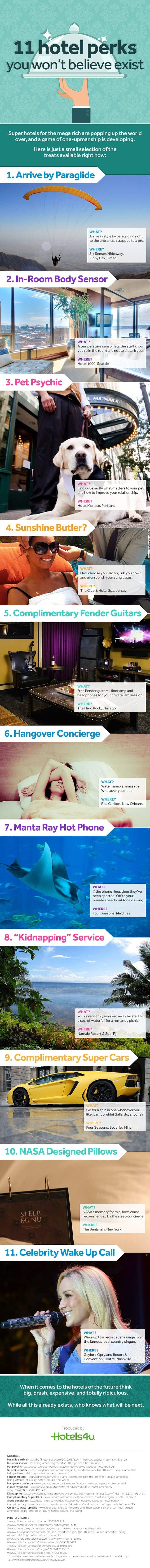 11 Hotel Perks You Won't Believe Exist