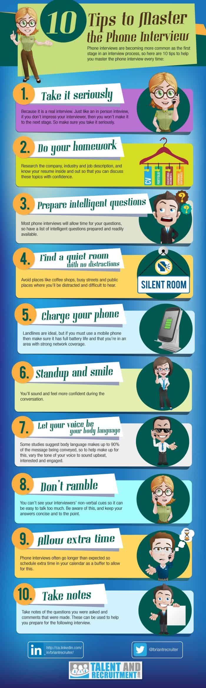 10 Tips To Master The Phone Interview Infographic