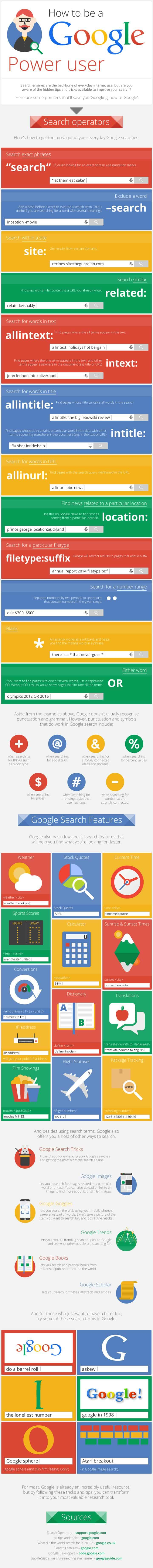 How To Become A Google Power User | Daily Infographic