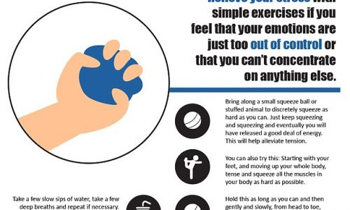 How to Relieve Flying Anxiety Infographic