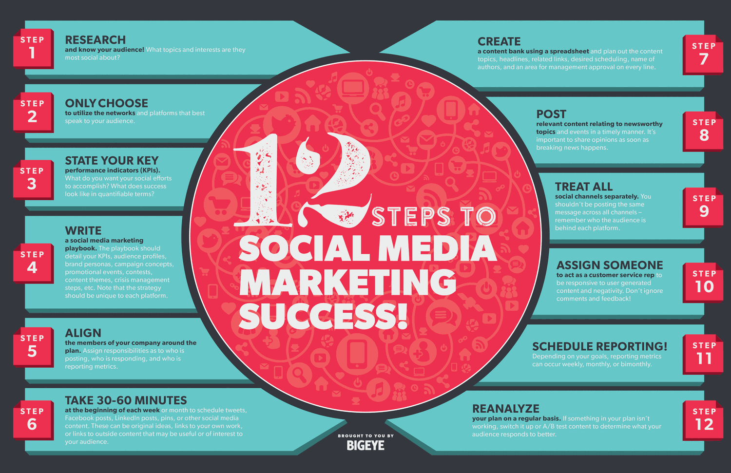 12 Steps to Social Media Marketing Success | Daily Infographic