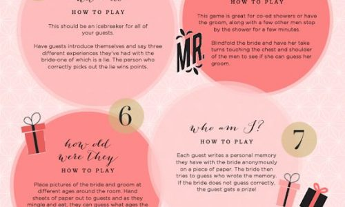 10 Pretty Perfect Bridal Shower Games Infographic