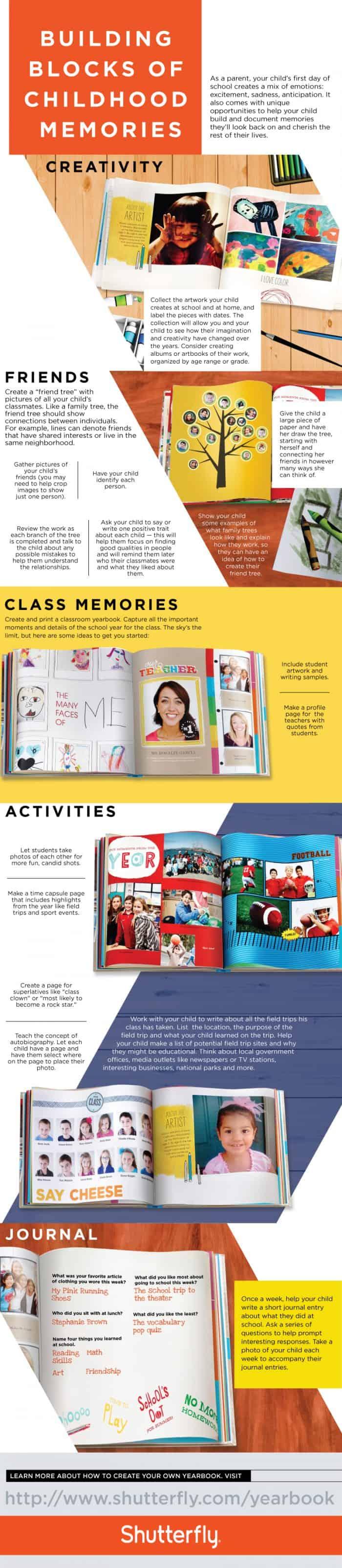 Building Blocks of Childhood Memories Infographic