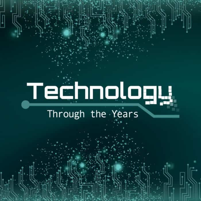 Technology through the years infographic
