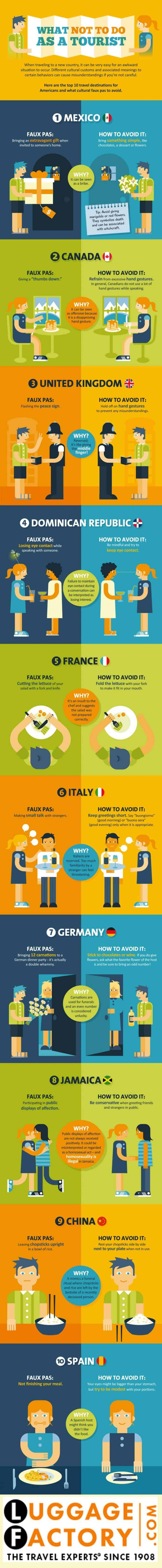 What Not To Do As A Tourist Infographic
