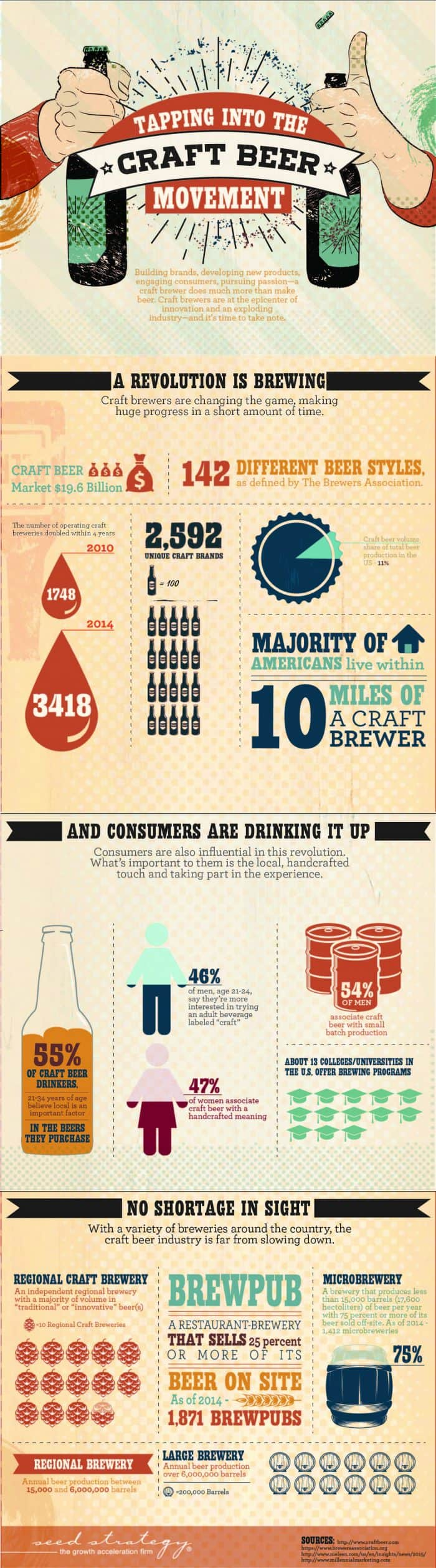 Tapping Into The Craft Beer Movement Infographic